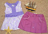 Майка-туника и юбка для девочки р.104,110