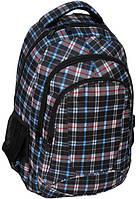 Молодежный рюкзак PASO 24L 15-8090B серый в клетку