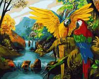 Картина-раскраска Mariposa Водопады Бразилии (MR-Q2121) 40 х 50 см