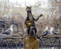 Рисование по номерам Mariposa Лирический кот Худ Владимир Румянцев (MR-Q2125) 40 х 50 см