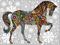 Раскраска по номерам DIY Babylon Цветочный конь (VK157) 30 х 40 см