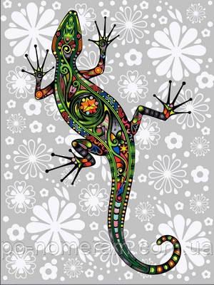 раскраска по цифрам Diy Babylon цветочная ящерица Vk164 30 х 40 см