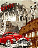 Картина по номерам Турбо Винтажная марка Рим (VP691) 40 х 50 см