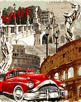 Картина по номерам DIY Babylon Винтажная марка Рим (VP691) 40 х 50 см