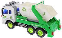 Dave Toy Спецтехника Junior trucker Строительный мусоровоз свет звук 28см