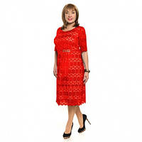 Женское платье большого размера нарядное гипюр