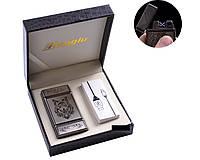 """Электроимпульсная USB - зажигалка в подарочной кожаной коробке """"Wolf"""""""