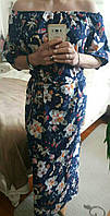 Женское летнее платье из натуральных тканей, 42-48 р-ры, 310/280 (цена за 1 шт. + 30 гр.)