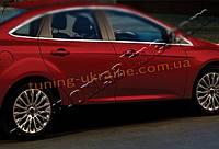 Нижние молдинги стекол Omsa на Ford Focus 2011-2014 седан