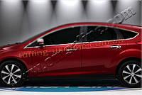 Нижние молдинги стекол Omsa на Ford Focus 2011-2014 хэтчбек