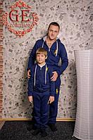 Костюм спортивный детский утепленный, лого Поло, серия папа и сын