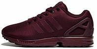 Женские кроссовки Adidas ZX Flux Womens Maroon (Адидас Флюкс) бордовые