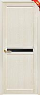 Двері міжкімнатні Новий Стиль, Мода, модель Неону, з чорним склом