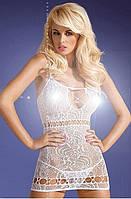 Эротическое нижнее белье, Obsessive, мини платье, D208 dress white, фото 1