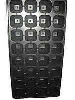 Кассета для рассады 32 ячейки, глубокая,размер кассеты 54х28 см,толщина стенки 1мм