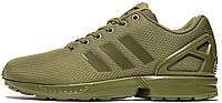 Женские кроссовки Adidas ZX Flux Womens Khaki (Адидас Флюкс) хаки
