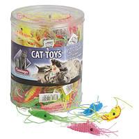 Игрушка Karlie-Flamingo Plastic Shrimp для кошек латекс, 1.5х6 см, фото 1