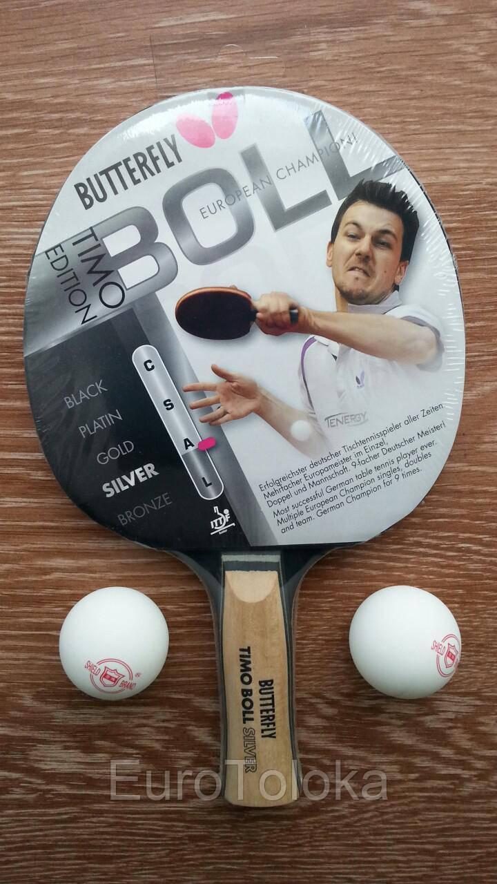 Ракетка для настольного тенниса теннисная BUTTERFLY TIMO BOLL SILVER - EuroToloka в Волынской области