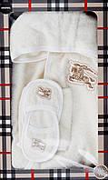 Махровый халат, банный набор в подарочной коробке Burberry