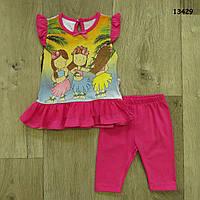 Летний костюм для девочки. 68, 86 см