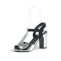 Босоножки женские Prima D'arte B271H-32 серебряно-черные