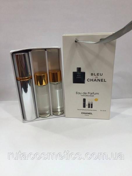 подарочный набор духи с феромонами Chanel Bleu De Chanel цена 145