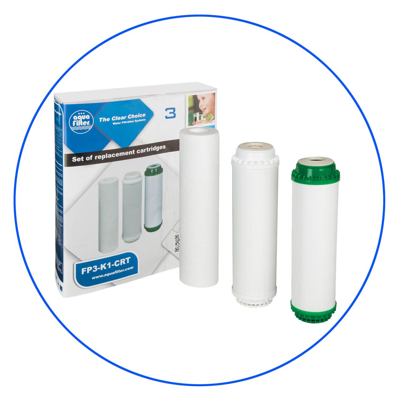 Комплект картриджів для фільтра Aquafilter FP3-K1-CRT