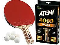 Ракетка для настольного тенниса теннисная ATEMI 4000 BALSA