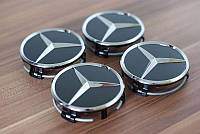 Колпачок на диск черный, хром Mercedes-Benz Новый Оригинальный