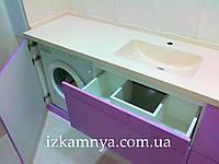 Раковина над стиральной машиной из искусственного камня УМ 002