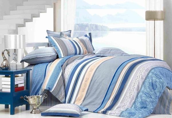 Полуторный комплект постельного белья Голубой Закат