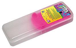 Пенал пластиковий із застібкою (розовий тримач), 8011