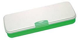 """Пенал пластиковий із застібкою """"Green"""", 8012"""