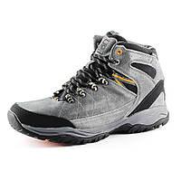 Ботинки зимние  мужские Restime PMZ 14186 серый