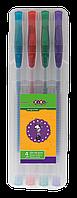 Набір гелевих ручок Zibi  GLITTER з блискітками, 4 шт., 0.7 мм., асорті (ZB.2200-99)
