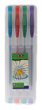 Набір з 4-х гелевих ручок GLITTER (з блискітками)