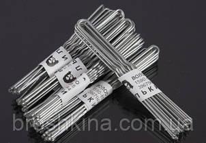 Шпильки для волосся сріблясті довжина 7 см 50 десятків в упаковці