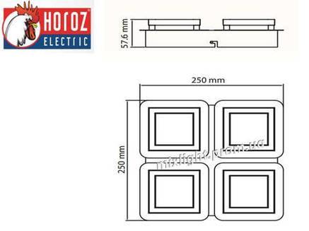 Светильник светодиодный потолочный 20W Likya-4 Horoz Electric, фото 2