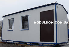 Бытовка строительная, мобильная (6 х 2.4 м.), металлический каркас, OSB, 2 окна, на лижах., фото 3