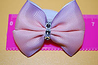 Резинка для волос бантик омбре розовый код мп184