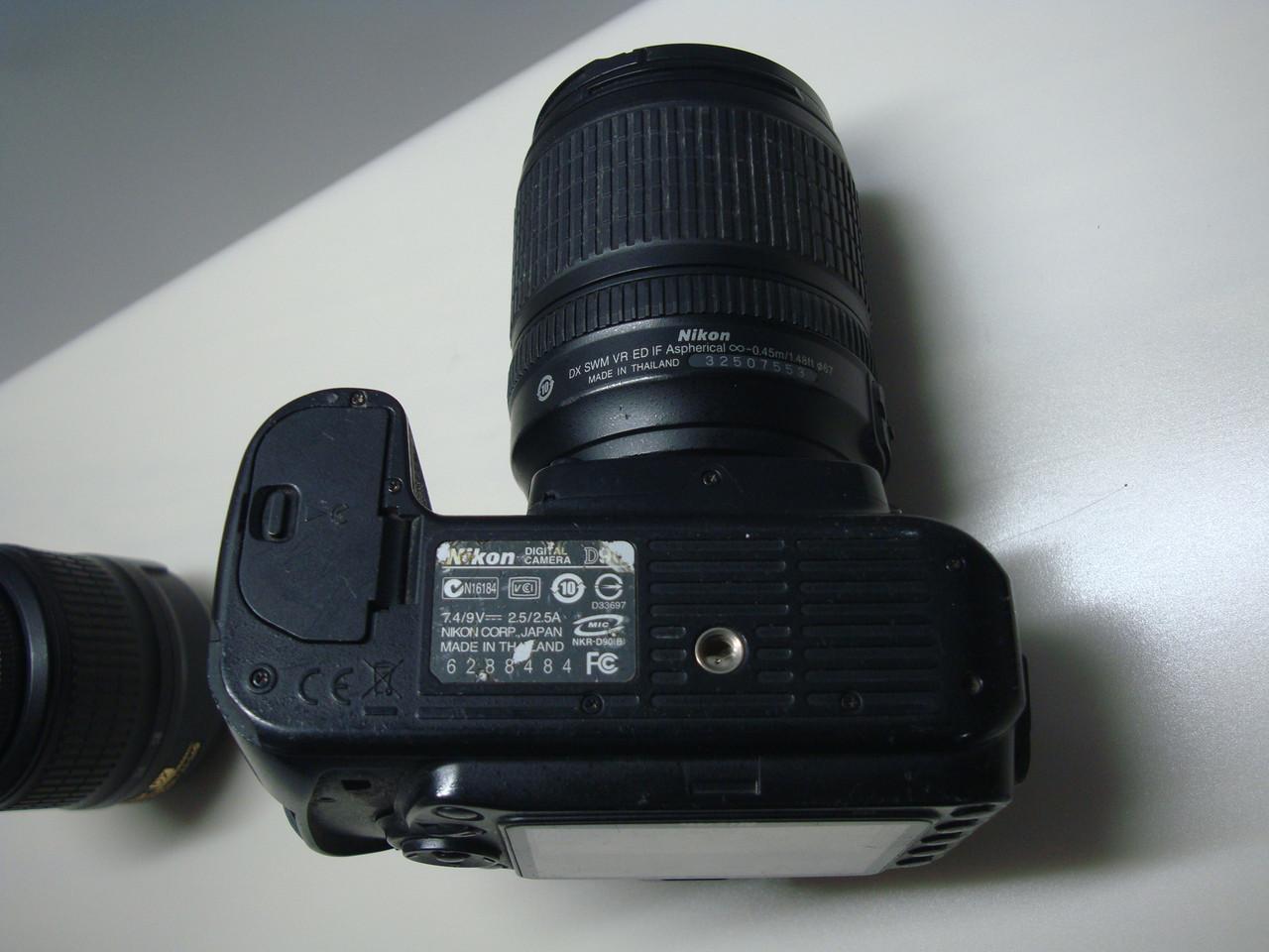 Цифровой зеркальный фотоапарат Nikon d90 + два обьектива