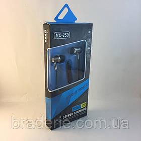 Наушники МС 250 Stereo earphone