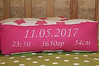 Подушка буква с вышивкой и зайчик комфортер, фото 1