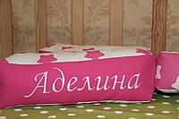 Подушка буква с вышивкой и зайчик комфортер., фото 1