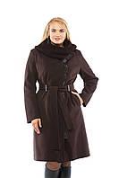 Женское Пальто А-23 Шоколад