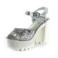 Босоножки женские Sopra SK19422-1C серебряные