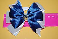 Резинка для волос бантик школа синий код мп100