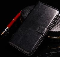 Кожаный чехол-книжка для Lenovo a7010 / k4 note / vibe x3 lite черный