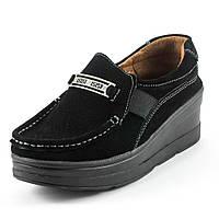 Мокасины женские Zoja's shoes 75118 черная замша