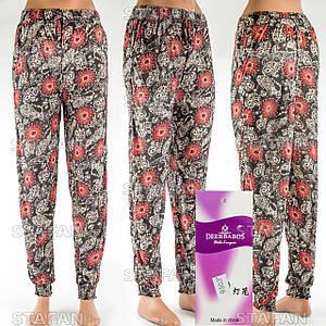 Женские лёгкие штаны Deerbabos 9503-9. Размер 56-60